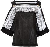 Alberta Ferretti lace detail blouse