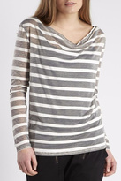 NU Denmark Striped Long Sleeves Top