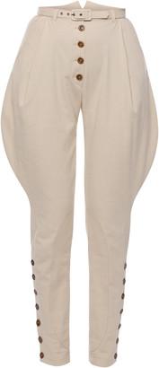 Lena Hoschek Chevalier Button-Detailed Cotton Riding Pants