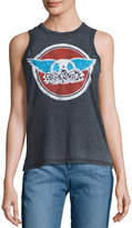 Chaser Band Logo-Graphic Tank, Black