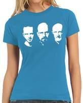 Walter Touchlines Women's T-Shirt Jesse Mike Faces Logo blue Size:M