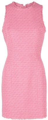 Balmain Pink Boucle Tweed Mini Dress