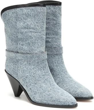 Isabel Marant Luam denim ankle boots