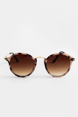 francesca's Renata Round Sunglasses - Blush