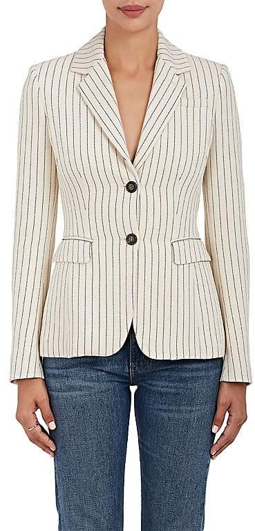 Altuzarra Women's Fenice Pinstriped Two-Button Blazer