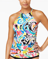 Anne Cole Painterly Paisley High-Neck Tankini Top