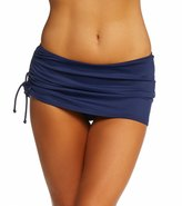 DKNY Brigitte Solid Side Tie Swim Skirted Bikini Bottom 8115484