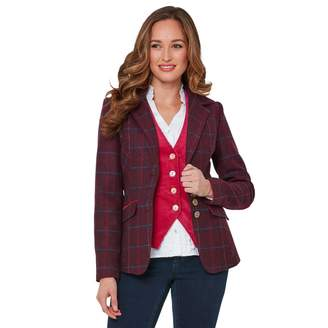 Joe Browns Fitted Single-Breasted Blazer in Checked Print