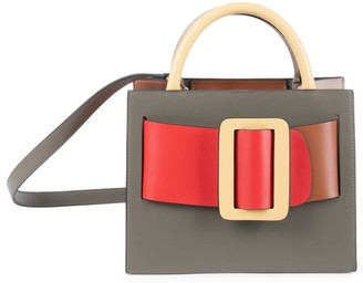 Boyy Bobby Buckle Colorblock Leather Tote