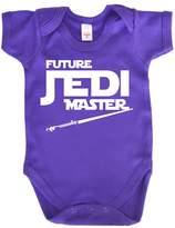 Dirty Fingers, Future Jedi Master, Baby Girl Bodysuit, 6-12m, Ry Blue