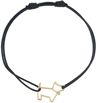 ALIITA 9kt Yellow Gold Diamond Dog Cord Bracelet