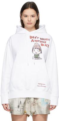 Stella McCartney White Yoshitomo Nara Edition Dont Waste Another Day Hoodie