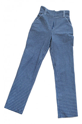 C/Meo Blue Polyester Trousers