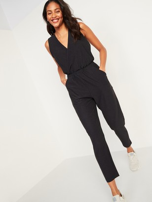 Old Navy Breathe ON Cross-Front Sleeveless Jumpsuit for Women