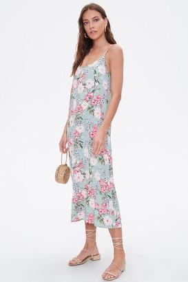 Forever 21 Floral Print Cami Maxi Dress