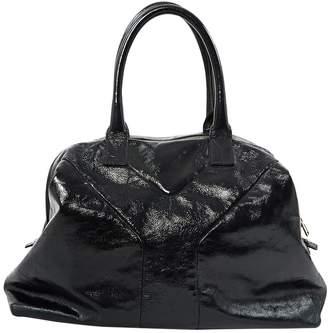 Saint Laurent Navy Patent leather Handbags