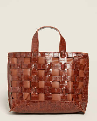 Street Level Brown Woven Tote