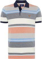 Gant Oxford Multi Stripe Short Sleeve Polo Shirt