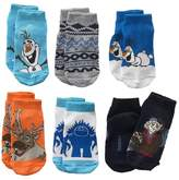 Disney Frozen 6-pk Toddler Socks Featuring Olaf, Sven, and Kristof 2t - 4t