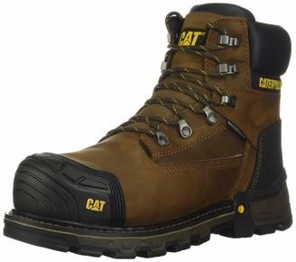 "Caterpillar Excavator XL 6"" WP TX CT CSA Work Boot Men 14 Dark Brown"