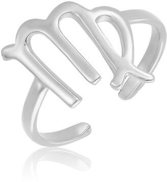 Sterling Forever Sterling Silver Adjustable Zodiac Ring - Virgo