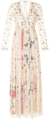 Needle & Thread Embroidered Cotton Maxi Gown