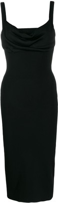 Theory Cowl-Neck Midi Dress