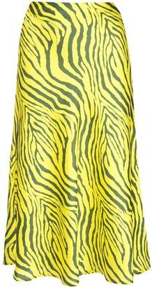 Apparis Swing Zebra Print Skirt