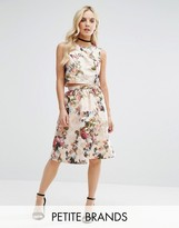Miss Selfridge Petite Floral Jacquard Midi Skirt