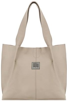 You By Tokarska Leather Handbag Shopper Beige
