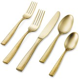 Williams-Sonoma Williams Sonoma Lucca Faceted Gold Brushed Flatware Place Setting