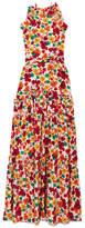 Borgo De Nor - Tatiana Ruffle-trimmed Floral-print Silk-crepe Maxi Dress - Pink