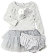 nanette (Infant Girls) Two-Piece Popover Tiered Tulle Dress & Bloomers Set