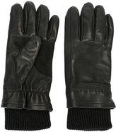 Ami Alexandre Mattiussi leather gloves - men - Lamb Skin/Wool - 10