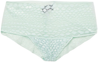 Cosabella Sweet Treat Stretch-lace Mid-rise Briefs
