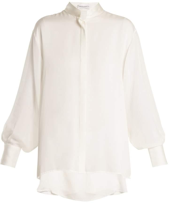 Amanda Wakeley Sinai drop-shoulder silk shirt