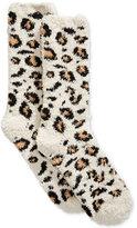 Charter Club Women's Leopard-Print Butter Socks, Created for Macy's