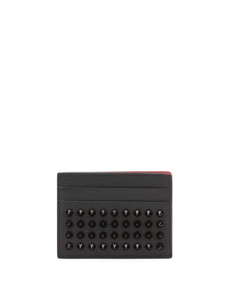 Christian Louboutin Kios Empire Spikes Leather Wallet