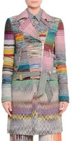 Missoni Crazy Patchwork Zip-Front Moto Jacket, Multi Colors