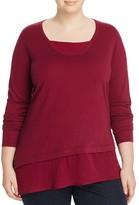 Marina Rinaldi Agata Layered Wool-Silk Sweater