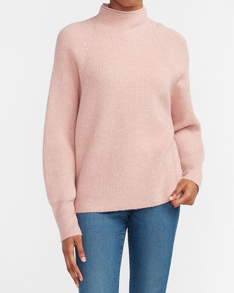 Express Ribbed Mock Neck Dolman Sleeve Sweater
