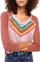 Free People Spring Bound Crochet Yoke Top