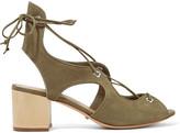 Schutz Lace-up nubuck sandals