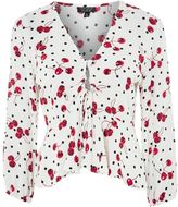 Topshop Spot and Cherry Print Blouse
