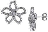 Allura 0.04 CT. T.W. Round Diamond Shared Prong Stud Earrings in Sterling Silver (I2-I3)