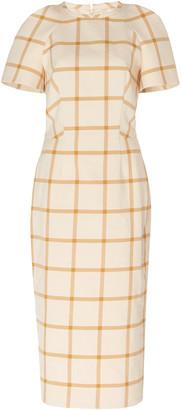 Martin Grant Checked Twill Midi Dress