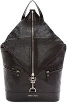 Jimmy Choo Black Fitzroy Leather Backpack