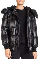 The Kooples Faux-Fur Trimmed Down Coat