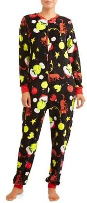 Dr. Seuss Grinch Women's and Women's Plus Union Suit