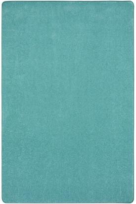 Joy Carpets Kid Essentials Rug, Just Kidding, Seafoam, 12'x8'